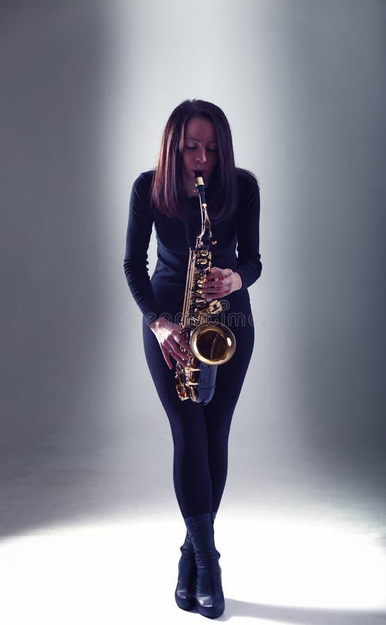 Saxophonist stockbilder