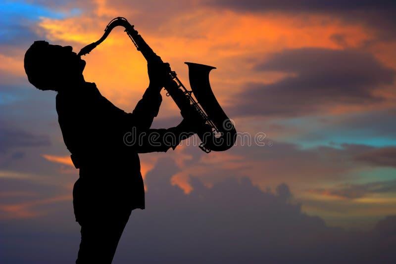 saxophonist στοκ εικόνες