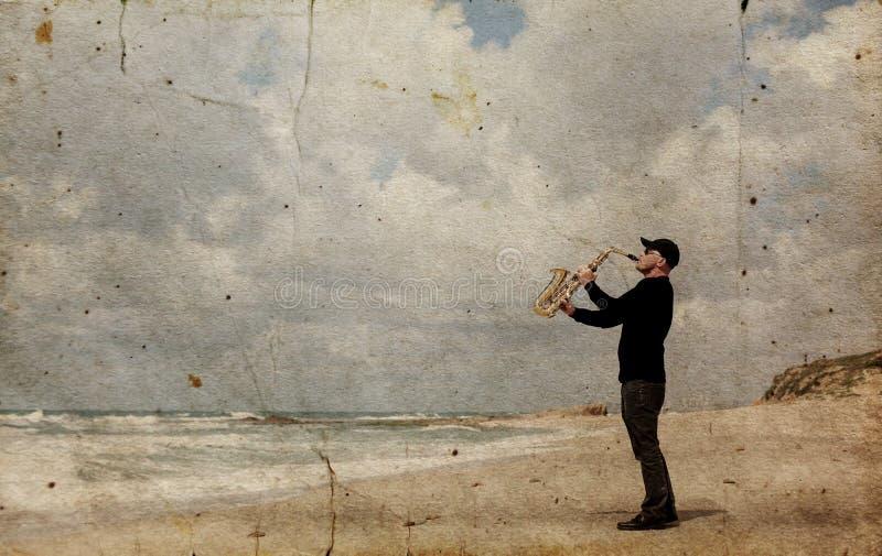 saxophonist fotografia de stock