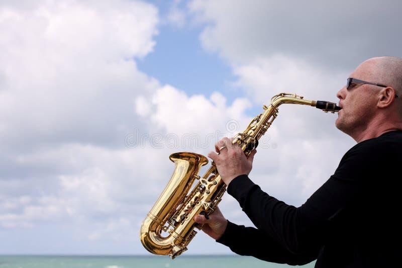 saxophonist stockfotografie