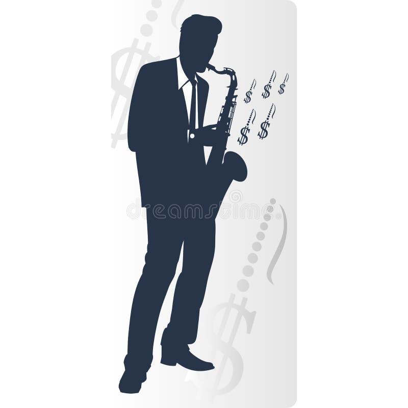 saxophonist stock abbildung