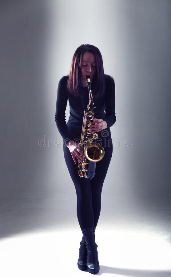 Saxophoniste images stock