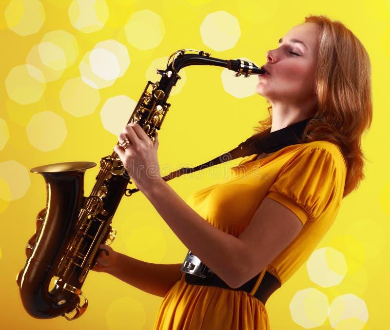 Saxophoniste photographie stock libre de droits