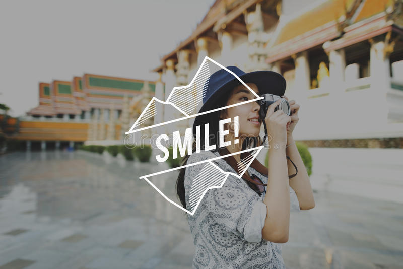 Say Cheese Smile Enjoyment Fun Happy Happiness Concept stock image