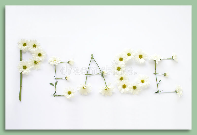 Say It With Flowers: Peace stock photography