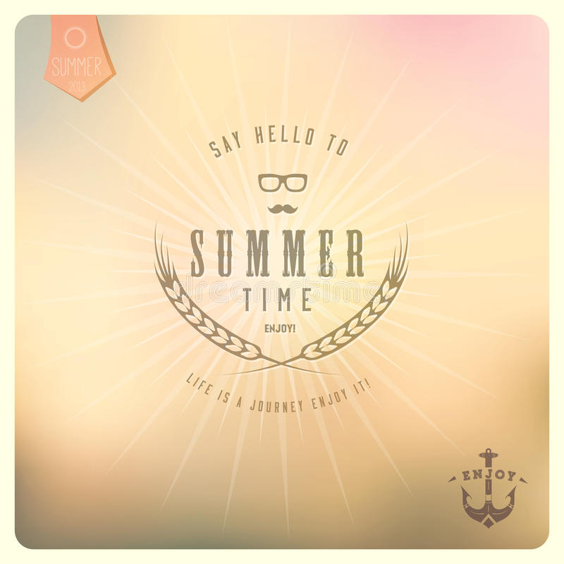 Free Say Hello To Summer / Colour Background In Retro Stock Image - 30889311