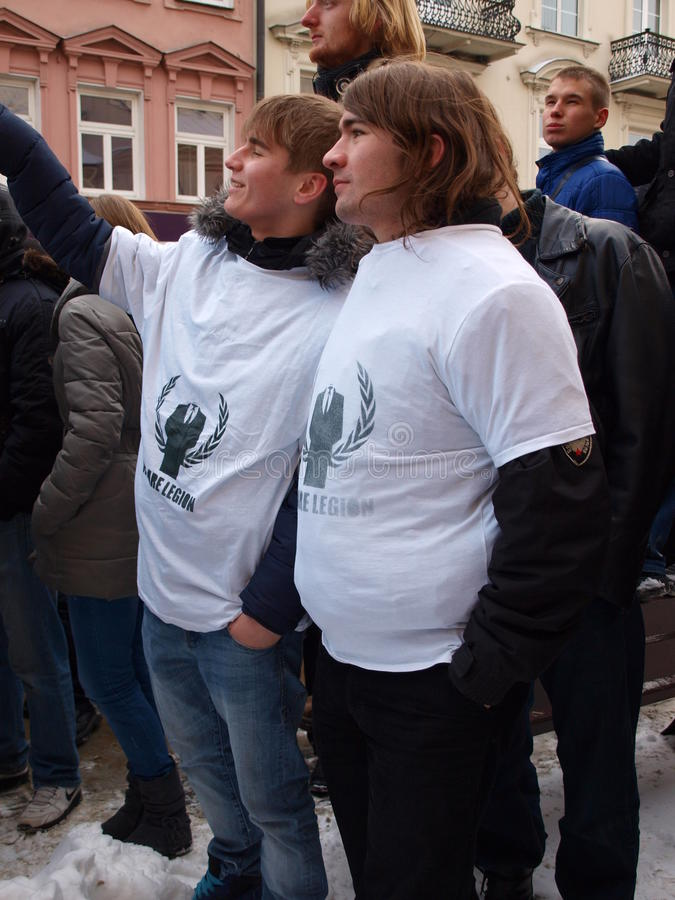 Download Say No To ACTA, Lublin, Poland Editorial Photography - Image: 23053912