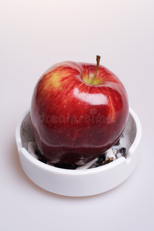 Free Say No To Cigarettes, Say Yes To Apple. Stock Image - 5131721