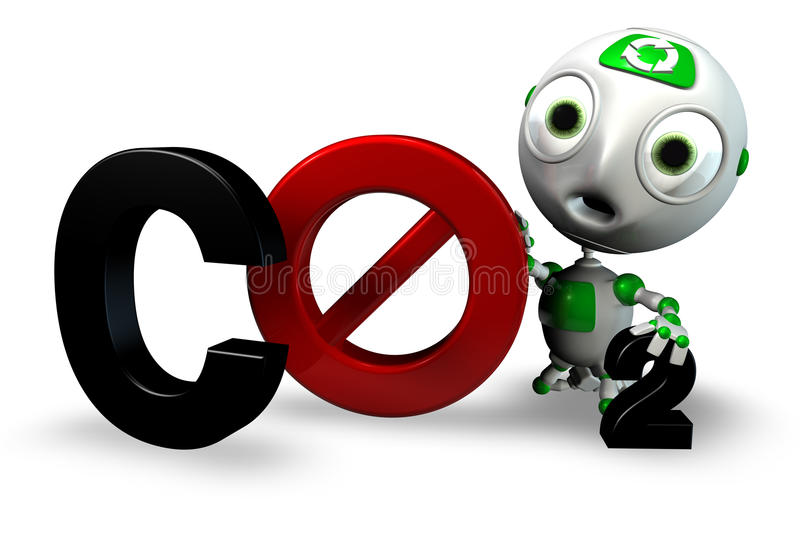 Say No To CO2 Royalty Free Stock Images