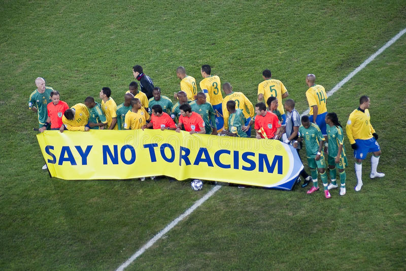 Say No To Racism - Fifa Motta royalty free stock image