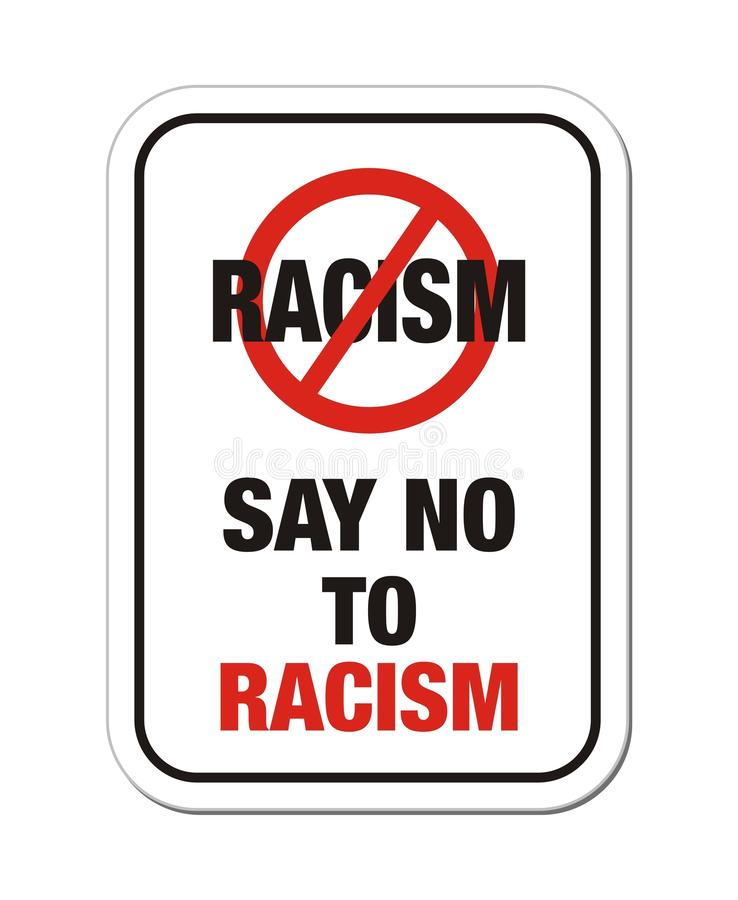 Download Say no to racism sign stock vector. Image of roadsign - 32322711