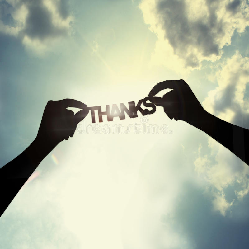 Download Say thank you to someone stock photo. Image of concept - 45368046