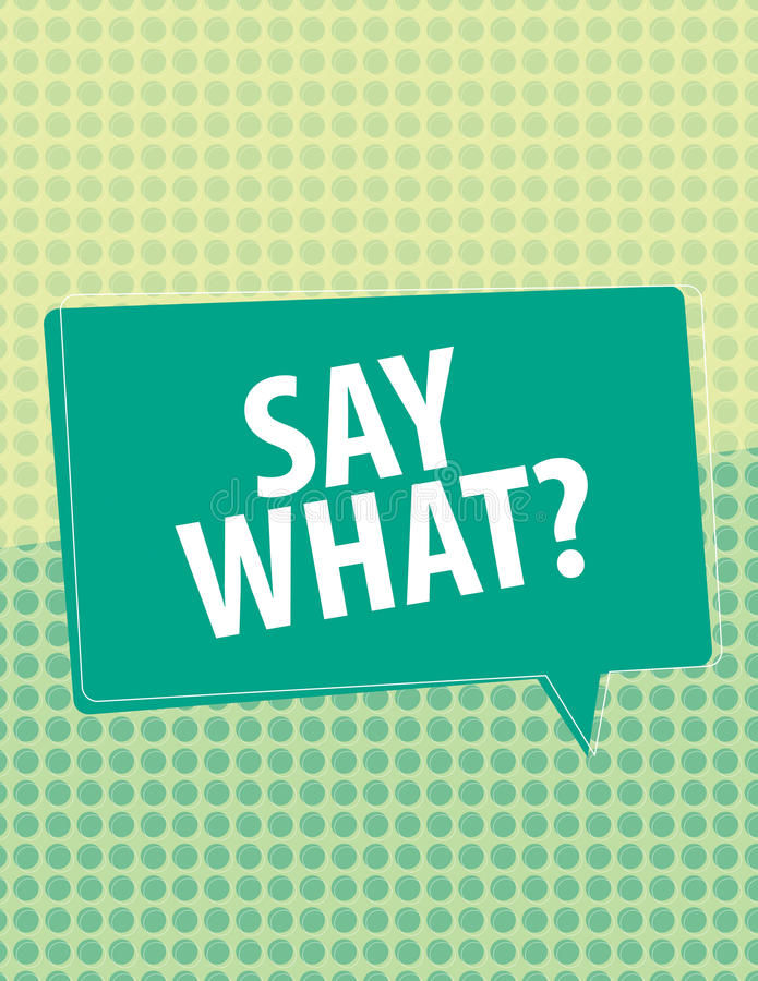 Say What?. Speech bubbles over circle pattern vector illustration