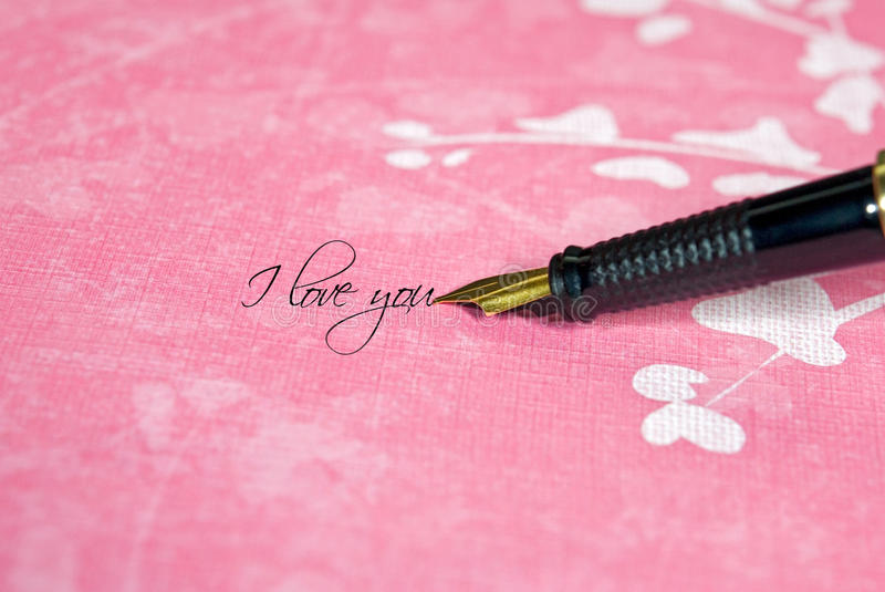 Download Say It In Writing stock image. Image of note, holiday - 12525765