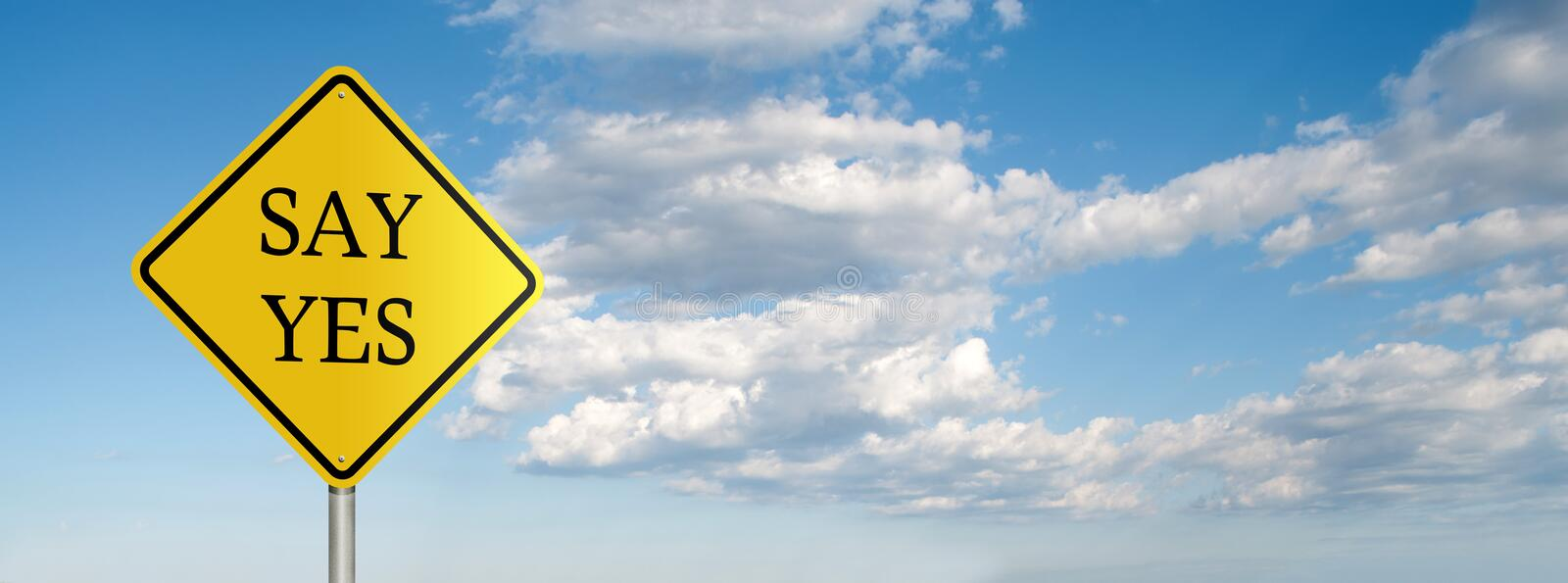 Download Say yes stock image. Image of caution, horizontal, warning - 27464469