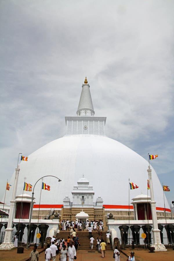 Saya de Ruwanweli en Anuradhapura imágenes de archivo libres de regalías
