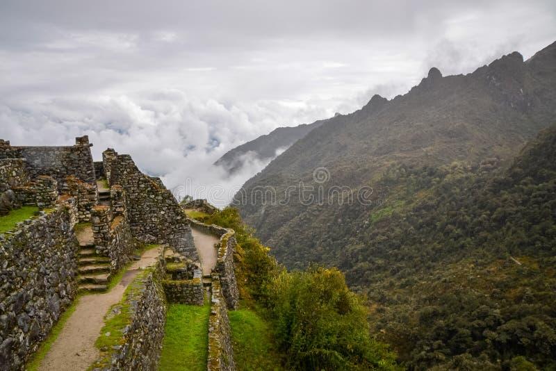 Sayacmarca an ancient Inca ruins along the Inca trail stock photography