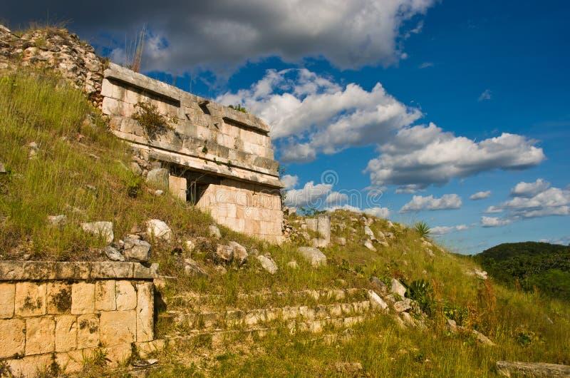 Sayil ist eine archäologische Fundstätte des Mayas, Yucatan, Mexiko stockfotografie
