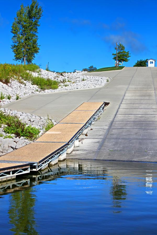 Saylorville jeziora krajobraz Iowa zdjęcia stock