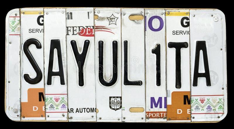 Sayulita墨西哥海滩制作了被隔绝的纪念品 免版税图库摄影