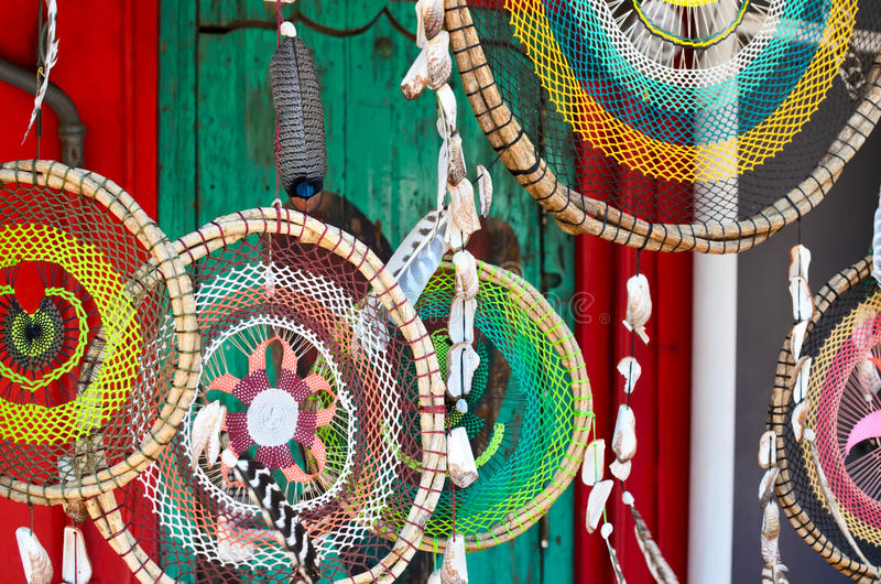 SAYULITA, MEXICO, MAY 28, 2016: hand-made twigged dreamcathers a royalty free stock photo