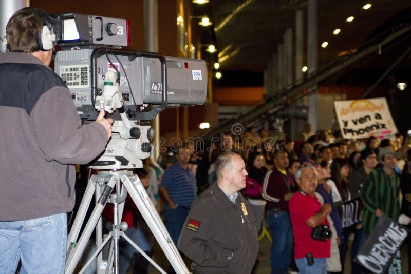 SB 1070 de la ley de la inmigración de Arizona de la protesta imagen de archivo