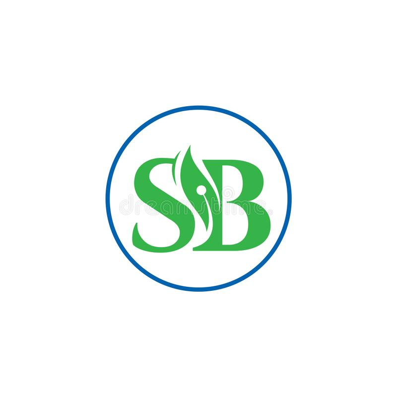 SB letter initial logo design vector template, Letter SB Logo Design With round shape , stock illustration