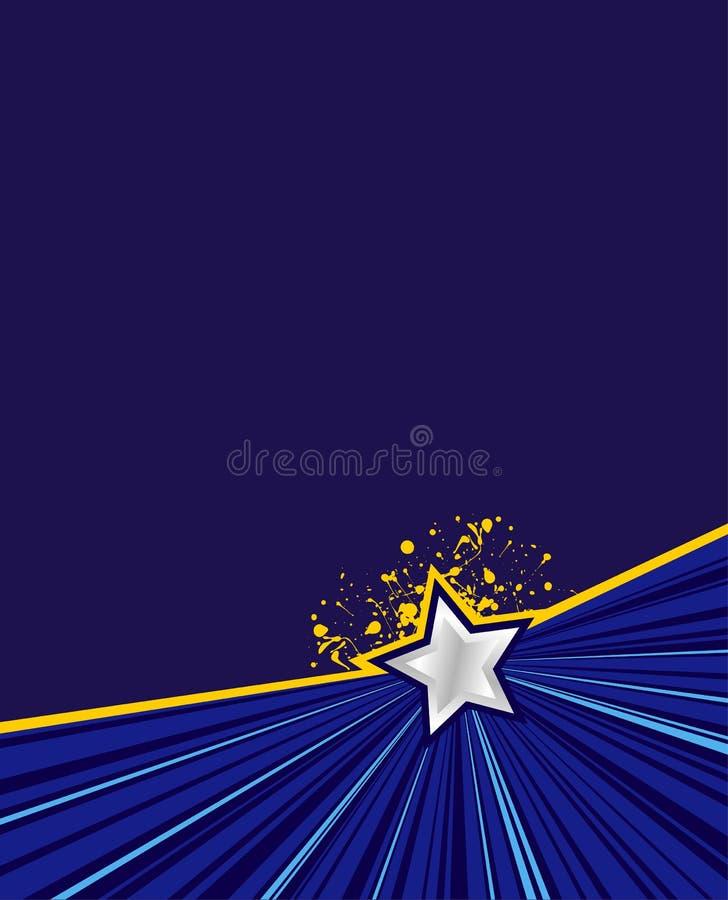 Sbalzo della stella blu illustrazione vettoriale