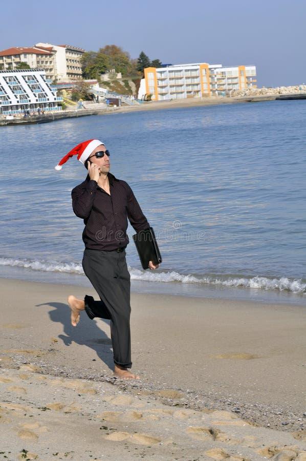 Sbalzo di affari di Christmass fotografia stock libera da diritti
