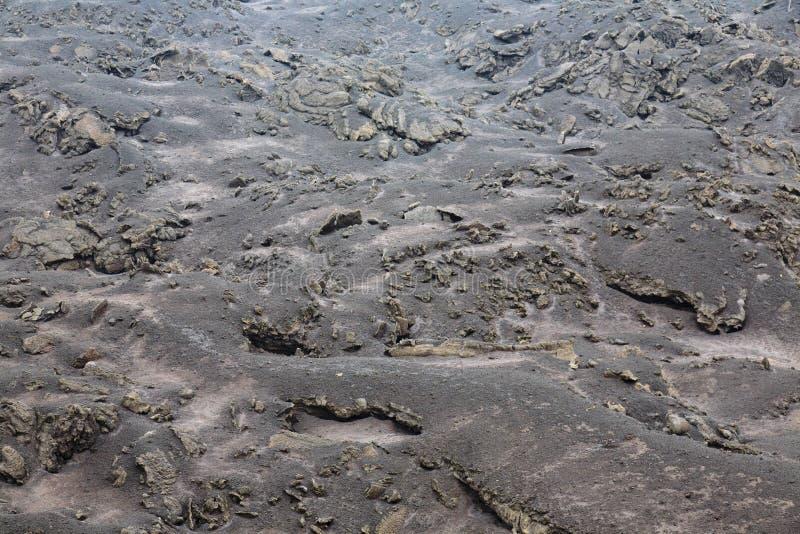Sbarco bruciato da lava espelsa da Pacaya Volcano fotografie stock libere da diritti