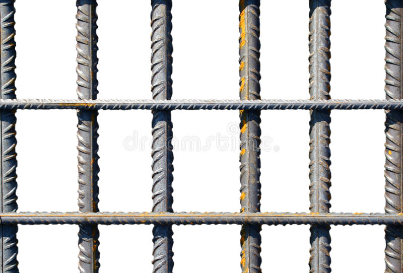 Sbarre di ferro fotografie stock libere da diritti