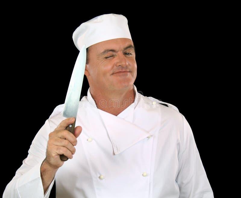 Sbattere le palpebre cuoco unico immagine stock