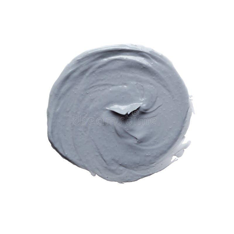 Sbavatura blu della maschera di protezione, pennellata della pittura acrilica fotografie stock