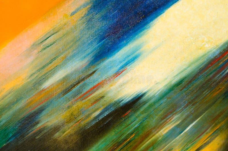 Sbavature diagonali di una pittura dell'acquerello su una tela solida fotografie stock libere da diritti