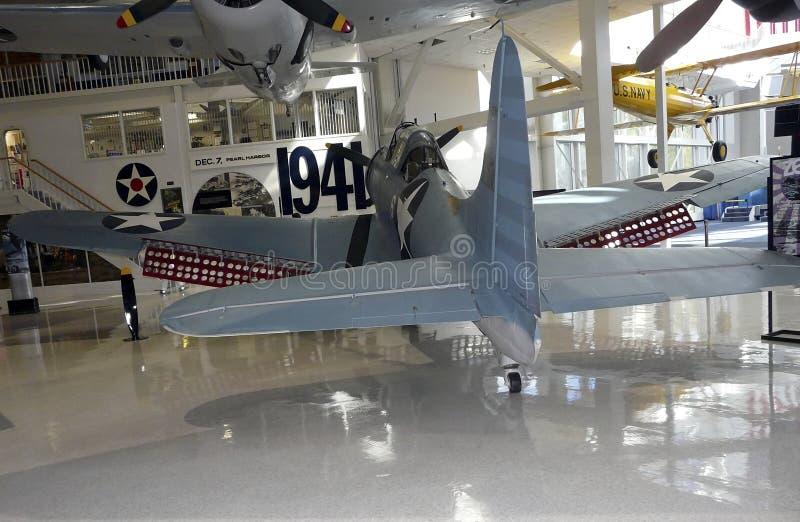 SBD大胆在海军航空博物馆 库存照片