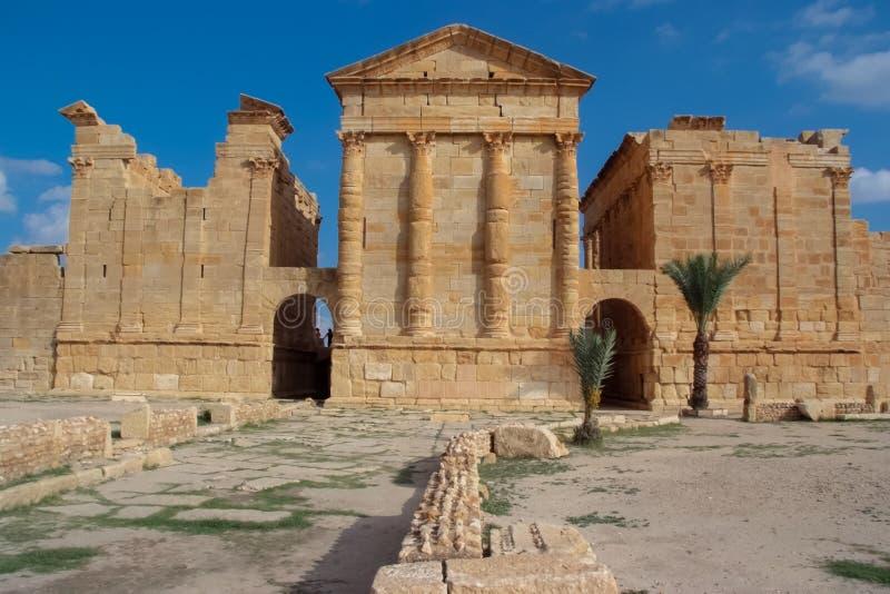 Sbeitla, Tunísia fotografia de stock
