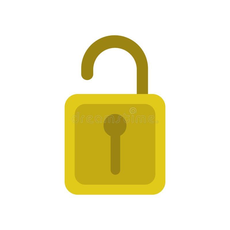 Sblocchi il segno di vettore dell'icona ed il simbolo isolato su fondo bianco, sblocca il concetto di logo illustrazione di stock
