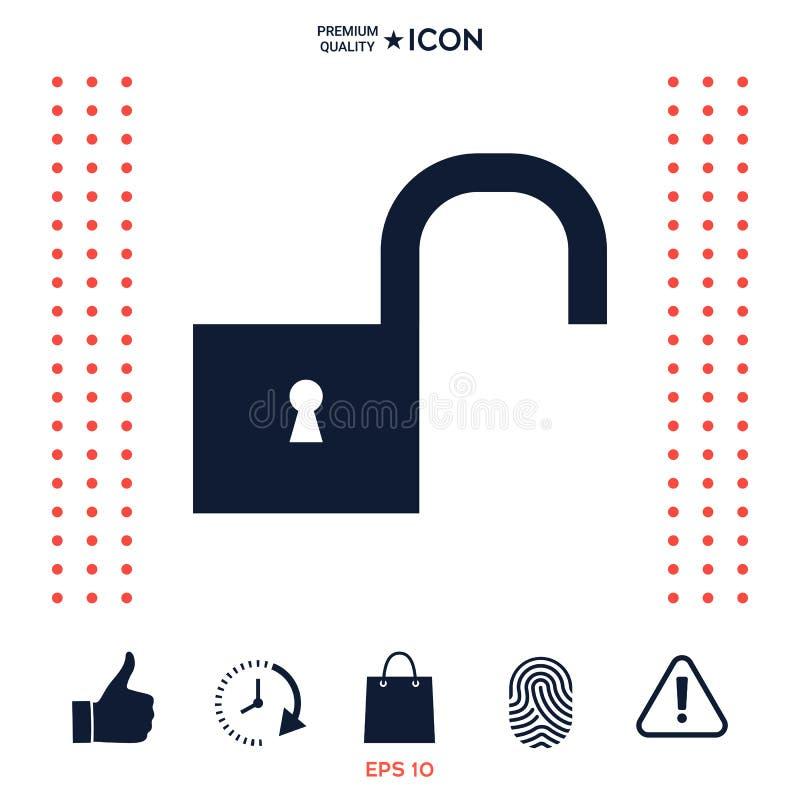 Download Sblocchi Il Simbolo Dell'icona Illustrazione Vettoriale - Illustrazione di oggetto, keyhole: 117977510