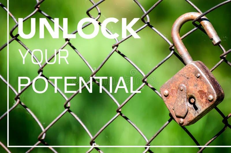 Sblocchi il vostro potenziale, realizzi le vostre idee immagine stock