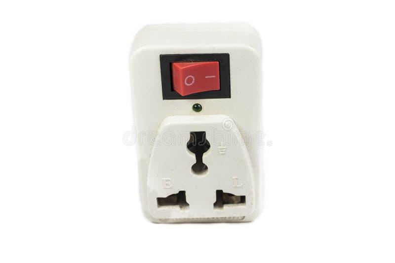 Sbocco di corrente elettrica di tre forconi fotografia stock