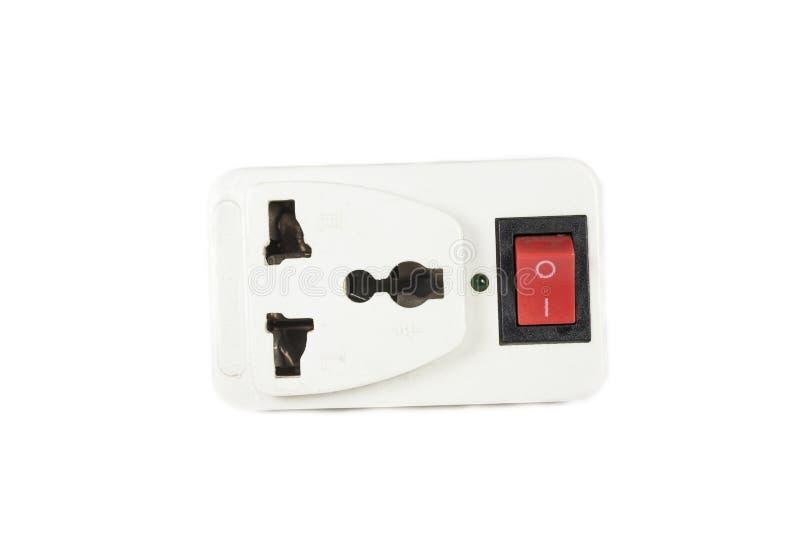 Sbocco di corrente elettrica di tre forconi fotografie stock