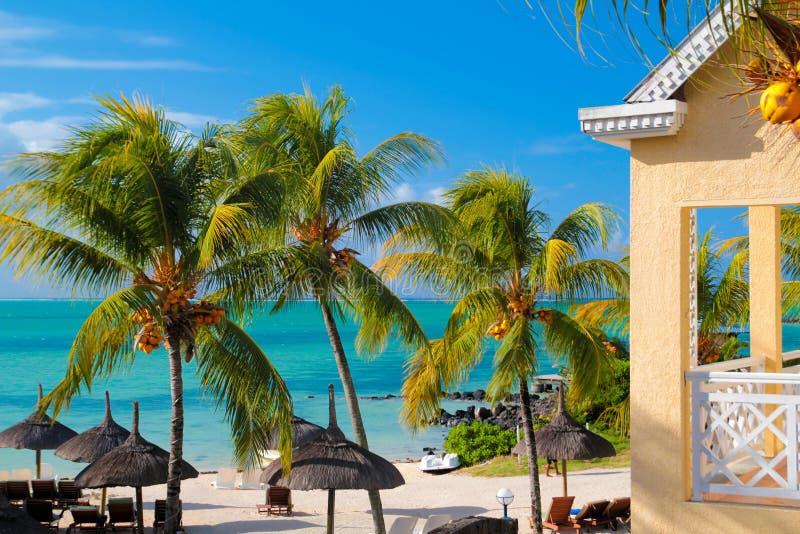 Scène Îles Maurice d'océan photos libres de droits