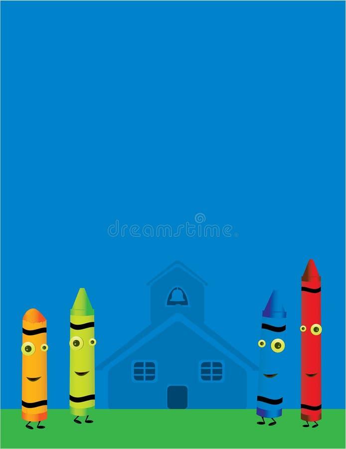 Scène 4 de caractère de crayon illustration stock