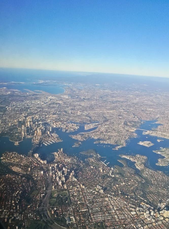 Scène aérienne de vue aérienne de centre de la ville de Sydney Australia de photo stock
