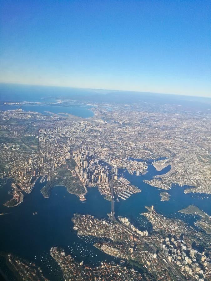 Scène aérienne de vue aérienne de centre de la ville de Sydney Australia de image libre de droits
