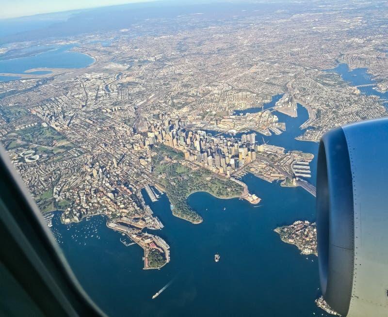 Scène aérienne de vue aérienne de centre de la ville de Sydney Australia de photos libres de droits