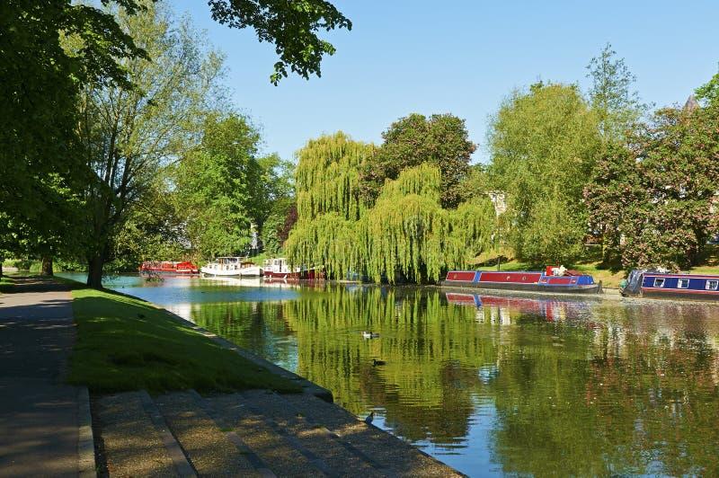 Scène anglaise de rivière photos libres de droits