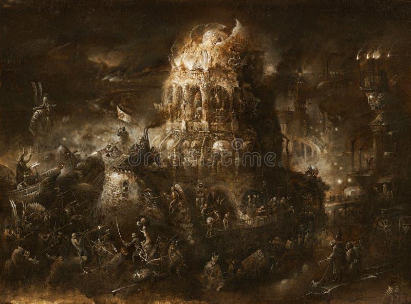 Scène apocalyptique photo stock