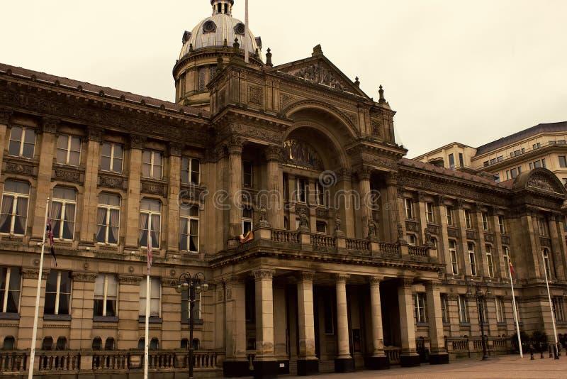 Scène au centre de la ville de Birmingham photos libres de droits