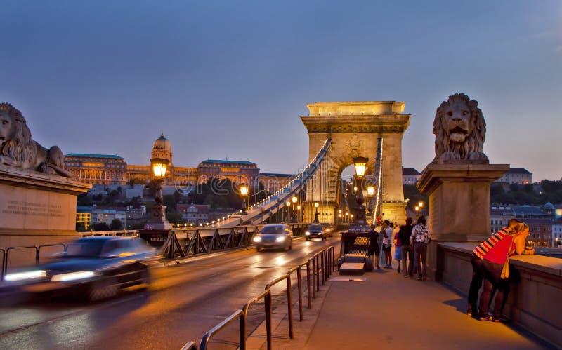 Scène binnen, Boedapest Hongarije royalty-vrije stock foto